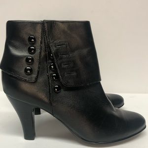 Sofft  Black Leather Bootie Size 8 1/2